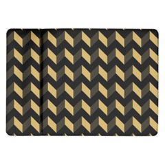 Tan Gray Modern Retro Chevron Patchwork Pattern Samsung Galaxy Tab 10.1  P7500 Flip Case