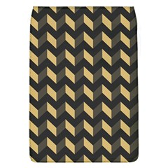 Tan Gray Modern Retro Chevron Patchwork Pattern Removable Flap Cover (large)