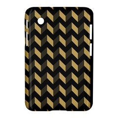 Tan Gray Modern Retro Chevron Patchwork Pattern Samsung Galaxy Tab 2 (7 ) P3100 Hardshell Case