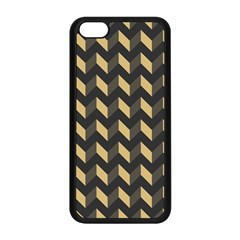 Tan Gray Modern Retro Chevron Patchwork Pattern Apple Iphone 5c Seamless Case (black)