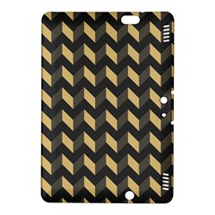 Tan Gray Modern Retro Chevron Patchwork Pattern Kindle Fire Hdx 8 9  Hardshell Case