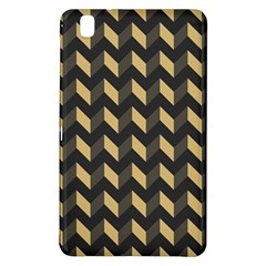 Tan Gray Modern Retro Chevron Patchwork Pattern Samsung Galaxy Tab Pro 8 4 Hardshell Case
