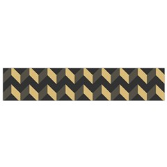 Tan Gray Modern Retro Chevron Patchwork Pattern Flano Scarf (Small)