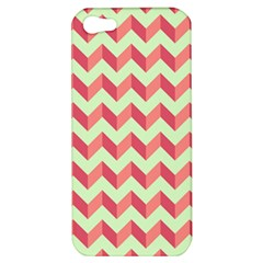 Mint Pink Modern Retro Chevron Patchwork Pattern Apple Iphone 5 Hardshell Case