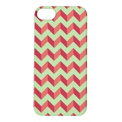 Mint Pink Modern Retro Chevron Patchwork Pattern Apple Iphone 5s Hardshell Case