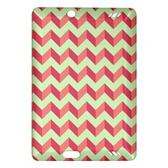 Mint Pink Modern Retro Chevron Patchwork Pattern Kindle Fire HD (2013) Hardshell Case