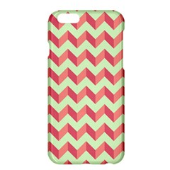 Mint Pink Modern Retro Chevron Patchwork Pattern Apple iPhone 6 Plus Hardshell Case
