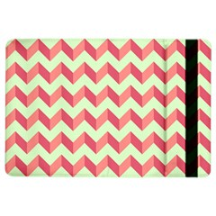 Mint Pink Modern Retro Chevron Patchwork Pattern Apple iPad Air 2 Flip Case
