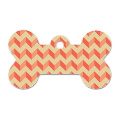 Modern Retro Chevron Patchwork Pattern Dog Tag Bone (two Sided)