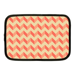 Modern Retro Chevron Patchwork Pattern Netbook Sleeve (medium)