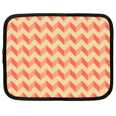Modern Retro Chevron Patchwork Pattern Netbook Sleeve (large)