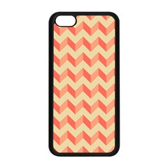 Modern Retro Chevron Patchwork Pattern Apple iPhone 5C Seamless Case (Black)