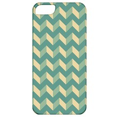 Mint Modern Retro Chevron Patchwork Pattern Apple Iphone 5 Classic Hardshell Case