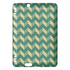 Mint Modern Retro Chevron Patchwork Pattern Kindle Fire HDX Hardshell Case