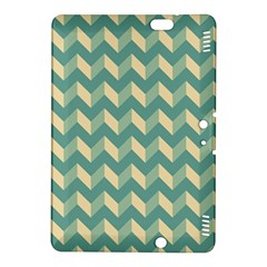 Mint Modern Retro Chevron Patchwork Pattern Kindle Fire Hdx 8 9  Hardshell Case