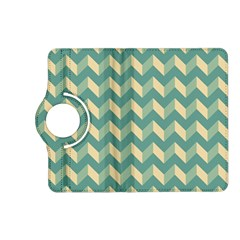 Mint Modern Retro Chevron Patchwork Pattern Kindle Fire HD (2013) Flip 360 Case