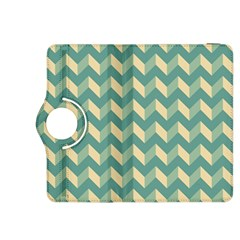 Mint Modern Retro Chevron Patchwork Pattern Kindle Fire HDX 8.9  Flip 360 Case