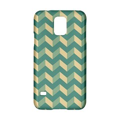 Mint Modern Retro Chevron Patchwork Pattern Samsung Galaxy S5 Hardshell Case