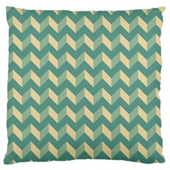 Mint Modern Retro Chevron Patchwork Pattern Large Flano Cushion Case (One Side)
