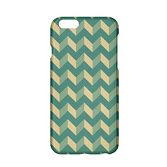 Mint Modern Retro Chevron Patchwork Pattern Apple iPhone 6 Hardshell Case