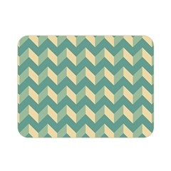 Mint Modern Retro Chevron Patchwork Pattern Double Sided Flano Blanket (Mini)
