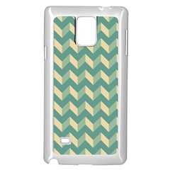 Mint Modern Retro Chevron Patchwork Pattern Samsung Galaxy Note 4 Case (White)