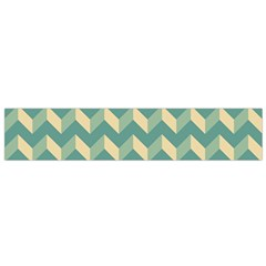 Mint Modern Retro Chevron Patchwork Pattern Flano Scarf (small)