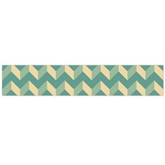 Mint Modern Retro Chevron Patchwork Pattern Flano Scarf (Large)