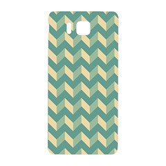 Mint Modern Retro Chevron Patchwork Pattern Samsung Galaxy Alpha Hardshell Back Case