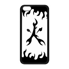 Kage Flame Phone Case Apple iPhone 5C Seamless Case (Black)