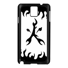 Kage Flame Phone Case Samsung Galaxy Note 3 N9005 Case (black)
