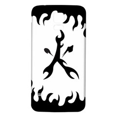 Kage Flame Phone Case Samsung Galaxy S5 Back Case (White)