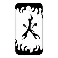 Kage Flame Phone Case Samsung Galaxy Mega I9200 Hardshell Back Case