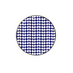 Blue And White Leaf Pattern Golf Ball Marker (for Hat Clip)