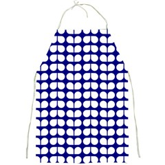 Blue And White Leaf Pattern Apron