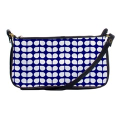 Blue And White Leaf Pattern Evening Bag
