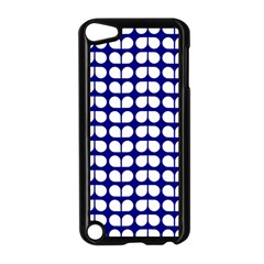 Blue And White Leaf Pattern Apple Ipod Touch 5 Case (black)