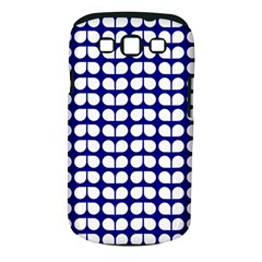 Blue And White Leaf Pattern Samsung Galaxy S Iii Classic Hardshell Case (pc+silicone)