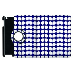 Blue And White Leaf Pattern Apple Ipad 2 Flip 360 Case