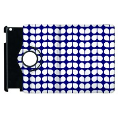 Blue And White Leaf Pattern Apple Ipad 3/4 Flip 360 Case