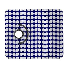 Blue And White Leaf Pattern Samsung Galaxy S  Iii Flip 360 Case
