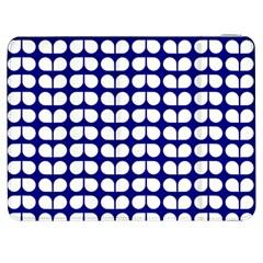 Blue And White Leaf Pattern Samsung Galaxy Tab 7  P1000 Flip Case
