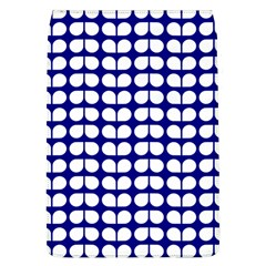 Blue And White Leaf Pattern Removable Flap Cover (large)