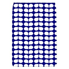 Blue And White Leaf Pattern Removable Flap Cover (small)