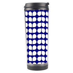 Blue And White Leaf Pattern Travel Tumbler
