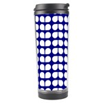 Blue And White Leaf Pattern Travel Tumbler Center