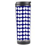 Blue And White Leaf Pattern Travel Tumbler Right
