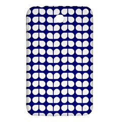 Blue And White Leaf Pattern Samsung Galaxy Tab 3 (7 ) P3200 Hardshell Case