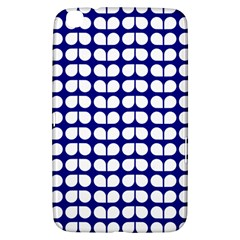 Blue And White Leaf Pattern Samsung Galaxy Tab 3 (8 ) T3100 Hardshell Case