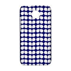 Blue And White Leaf Pattern HTC Desire 601 Hardshell Case